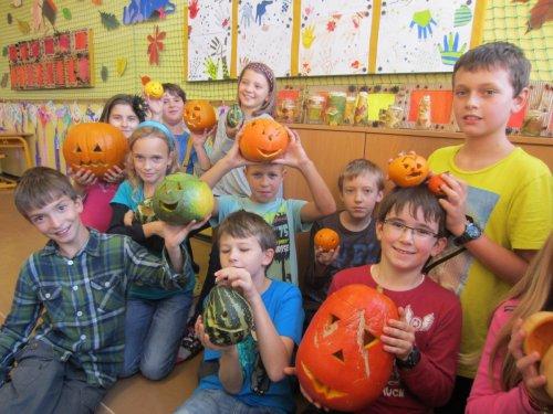 Podzimní tvoření žáků 1. stupně