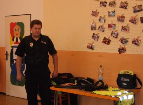 Strážník městské policie ve školní družině