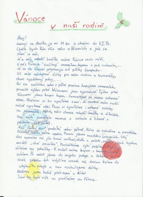 Projekt Comenius - práce žáků