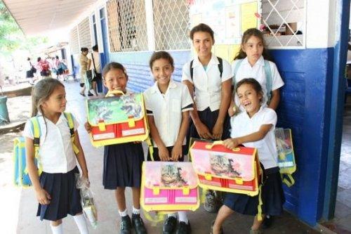 Pomoc školákům v Nikaragui