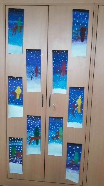 Zimní výzdoba žáků prvního stupně