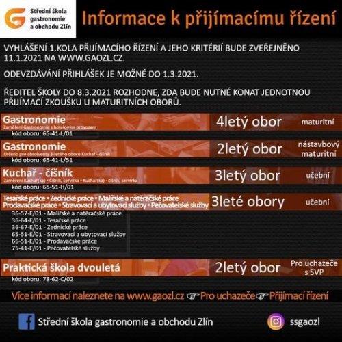 Přijímací řízení na SŠ / Informace pro uchazeče