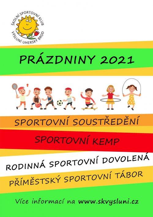 Nabídka sportovních aktivit - prázdniny 2021