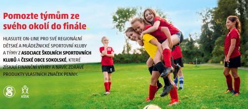 Školní sportovní klub se zapojil do soutěže s Penny Hýbeme se hezky česky