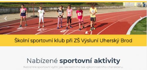 Školní sportovní klub při ZŠ Výsluní nabízí..